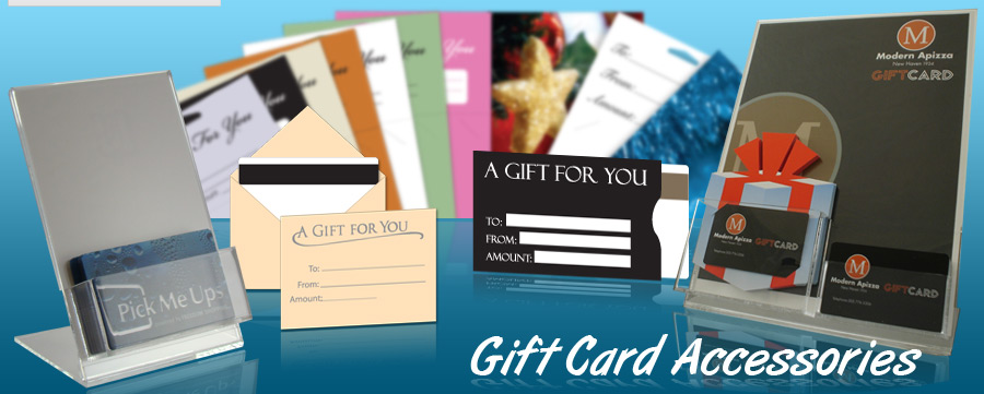 Plastic Gift Card Displays, Envelopes, Sleeves, and Backers