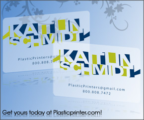 Frosted Plastic Card Printing Sample 11