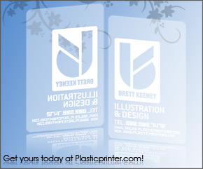 Frosted Plastic Card Printing Sample 12