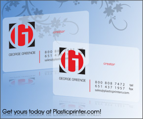 Frosted Plastic Card Printing Sample 13