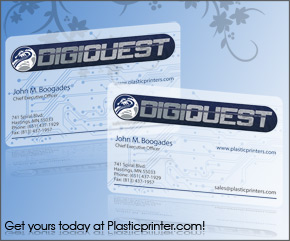 Frosted Plastic Card Printing Sample 18