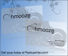 Frosted Plastic Card Printing Sample 1