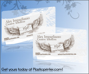Frosted Plastic Card Printing Sample 3