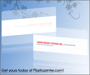 Frosted Plastic Card Printing Sample 5