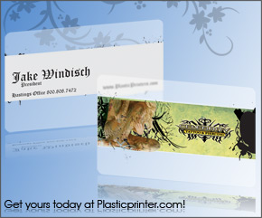 Frosted Plastic Card Printing Sample 9