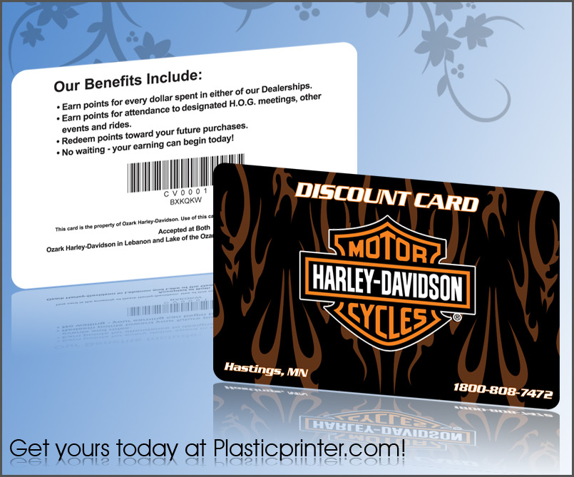 Plastic Discount Card Printing