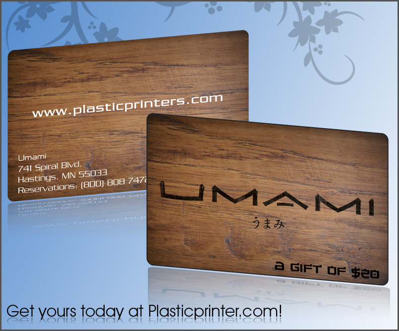 Plastic Gift Card Printing