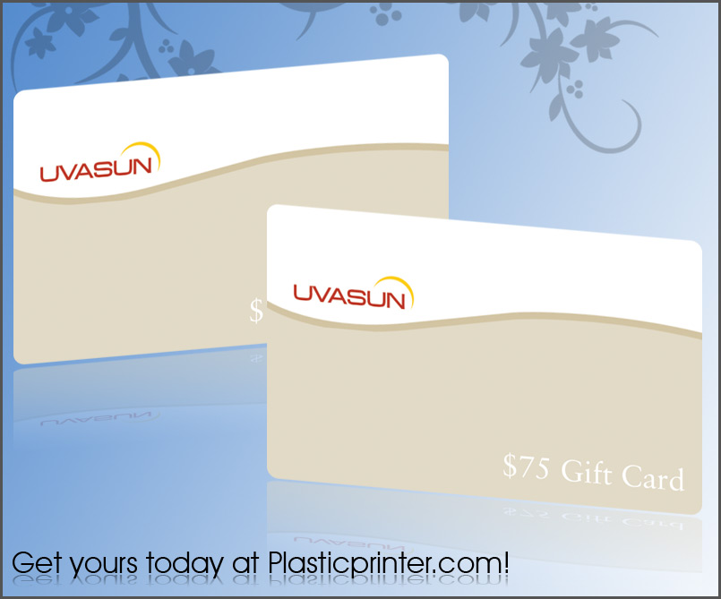 Plastic Gift Card Printing – Sample Gift Card