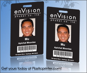 Plastic ID Badge Printer Sample 4