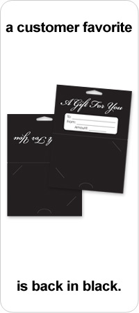 Gift Card Backers, Now Available in BLACK!