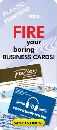 Plastic Business Card Printing. The Future of Self Promotion