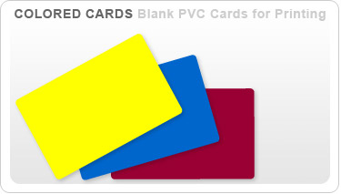 Colored Blank Plastic Card Stock